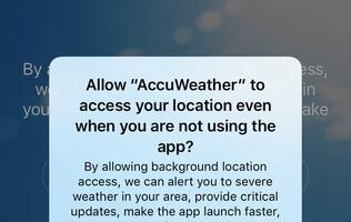 PSA: The AccuWeather iOS app sends location data even after you deny it access