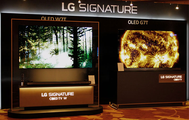 A feature on LG Signature OLED65W7T 4K OLED TV
