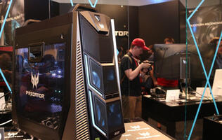 Acer put actual wheels on its super high-end Predator Orion 9000 gaming desktop