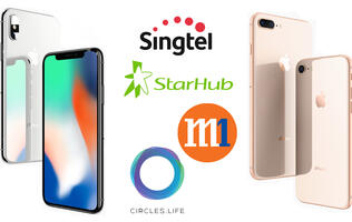 iPhone 8, iPhone 8 Plus, iPhone X telco price plan comparison