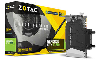 The Zotac GeForce GTX 1080 Ti ArcticStorm Mini is the world's smallest to feature a built-in water block