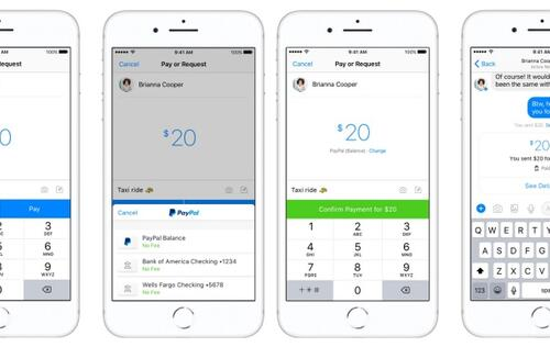 Facebook partners with PayPal for peer-to-peer payment in Messenger