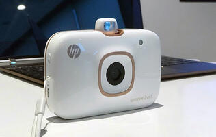 The HP Sprocket 2-in-1 is a portable printer and camera rolled into one