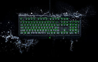 The new Razer BlackWidow Ultimate will now resist water and dust with an IP54 rating