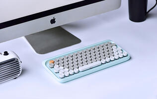"The Lofree keyboard is now available in ""seasonal"" colors and has a tweaked layout"