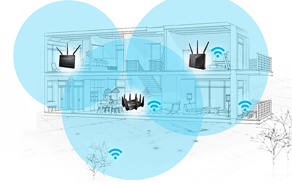 You can now use multiple ASUS routers to create a mesh Wi-Fi network