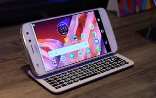 In pictures: Lenovo's new Moto Mods include a slider keyboard and vital signs monitor