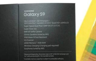 Purported retail box of Galaxy S9 suggests a rear camera with variable aperture