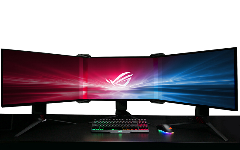 ASUS found a way to make the bezels disappear in a multi-monitor setup