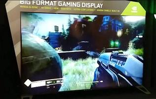 Watch: An NVIDIA 65-inch BFGD (big format gaming display) in action