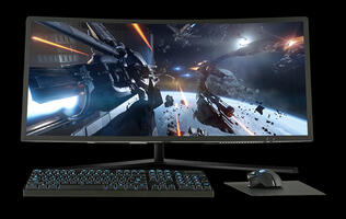 Aftershock's Aeon 34 is a sleek AIO machine with a curved, ultra-wide display
