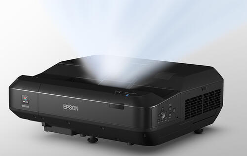 The Epson EH-LS100 is a 3LCD ultra-short-throw laser projector for the home
