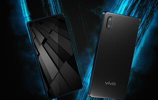 Vivo's new Apex concept phone has a half-screen in-display fingerprint scanner and a pop-up selfie camera