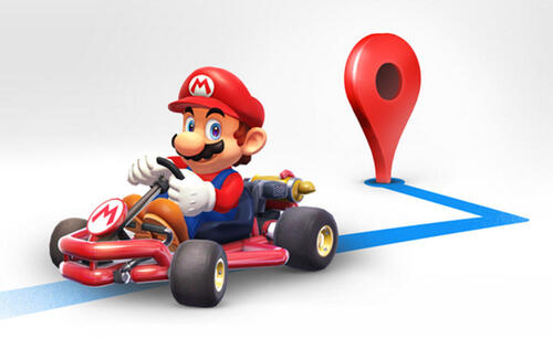 You can now drive around in Google Maps as Mario
