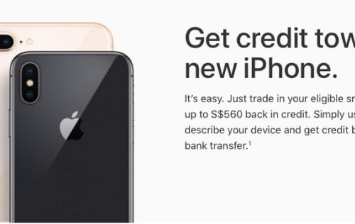 Apple offers trade-up program for the iPhone and iPad in Singapore