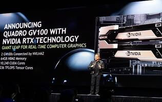 In 2 minutes, NVIDIA's CEO will tell you what's great about the Quadro GV100 workstation GPU