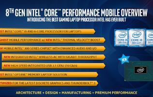 A barrage of 'Coffee Lake' mobile processors launched, including a Core i9 performance part