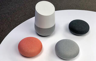 Google Home and Home Mini voice-controlled speakers will arrive in stores Apr 20