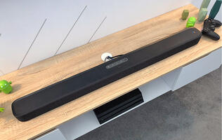 The JBL Link Bar is a soundbar running Android TV and Google Assistant