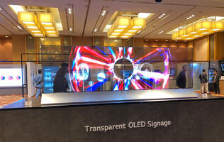 Curving screens, transparent OLEDs and more in LG's future of digital signage