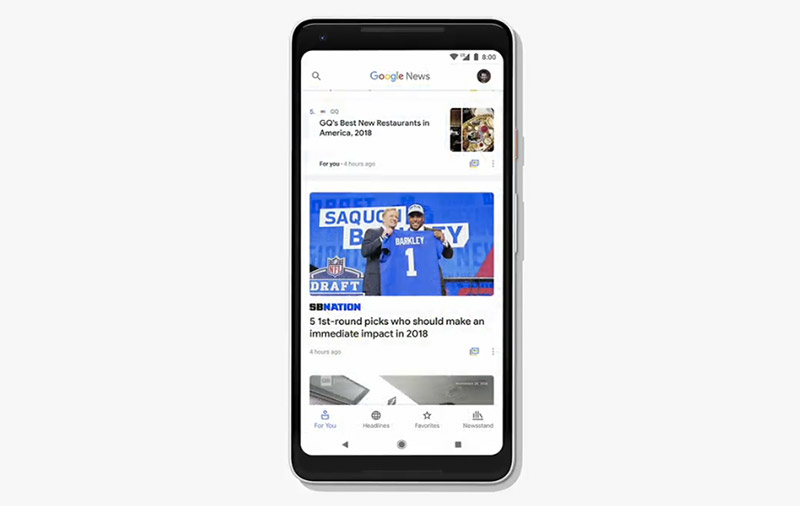 The AI-powered Google News offers better personalization and news sources you can trust