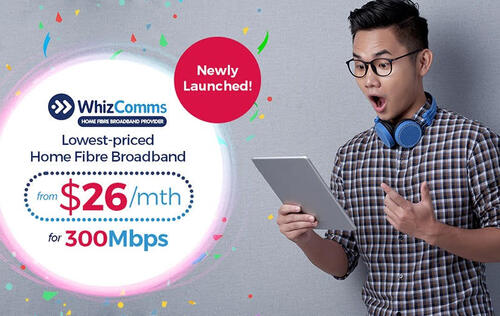 WhizComms new 300Mbps fiber plans are the cheapest in Singapore