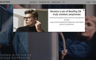 Luxury brand Bang & Olufsen launches their first digital store