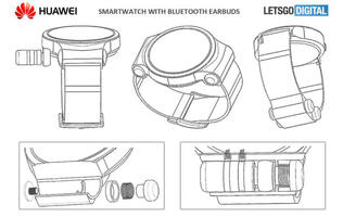Madness? Huawei working on a smartwatch that can store a pair of wireless earbuds