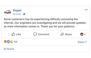 PSA: Singtel's fiber broadband network is having some issues right now (Update: fixed!)
