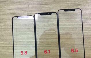 Purported front panels of 2018 iPhones show thicker bezels for the 6.1-inch model