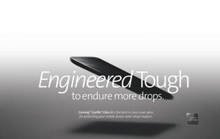 Corning Gorilla Glass 6 tested to survive 15 drops from 1m on rough surfaces