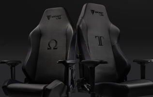 Secretlab's Omega and Titan gaming chairs are now available in black