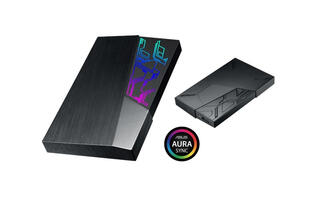 ASUS put Aura Sync RGB LEDs on its FX external hard drive