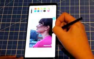 Watch: Tracing a photo with the S Pen on the Samsung Galaxy Note9