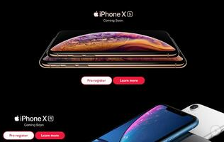 You can now register your interest for the new iPhone XS, XS Max, and XR with Singtel