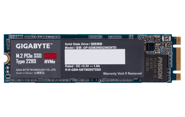 The Gigabyte M.2 PCIe SSD is the company's first NVMe-compliant PCIe-based SSDs