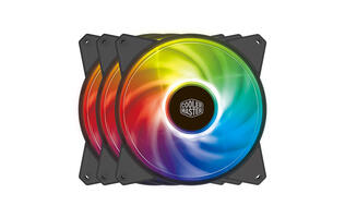 Cooler Master's MasterFan MF120R and MF140R come with addressable RGB LEDs