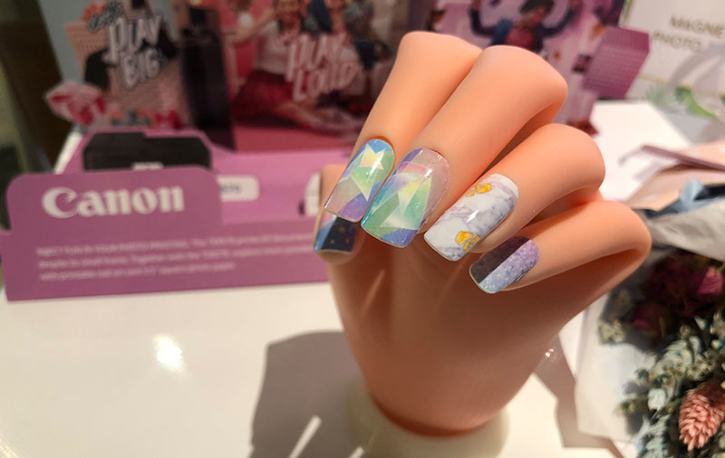 The new Canon Pixma TS9570 and TS8270 are photo inkjet printers that can print nail art