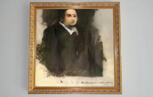 This piece of AI art sold for US$432,500 at Christie's