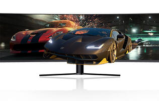 The Aftershock PRISM+ X490 is a 49-inch 144Hz display for gamers and creators