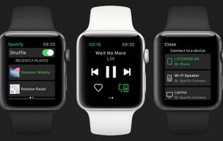 Spotify releases the first version of its Apple Watch app