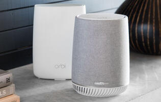 The Netgear Orbi Voice combines a mesh networking system and smart speaker in one chic enclosure