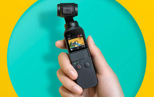 The Osmo Pocket is a super-small 3-axis stabilized camera that can shoot 4K at 60fps