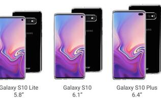 Case renders reveal what the Galaxy S10 lineup could look like