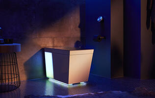 The Numi 2.0 intelligent toilet by Kohler has RGB lighting and Amazon Alexa built in