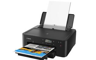 The new Canon Pixma TS707 is a high-performance, wireless ink-jet printer for SOHOs
