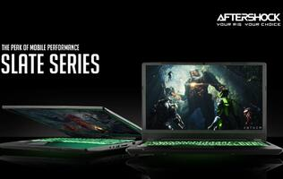 Aftershock unveils new Slate series notebooks with NVIDIA RTX graphics