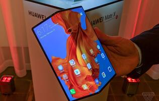 Huawei's Mate X foldable phone is thinner than the Galaxy Fold