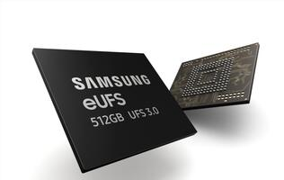Samsung begins mass production of 512GB eUFS 3.0