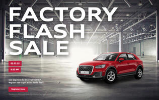 Audi is holding an online flash sale on the morning of 2nd March